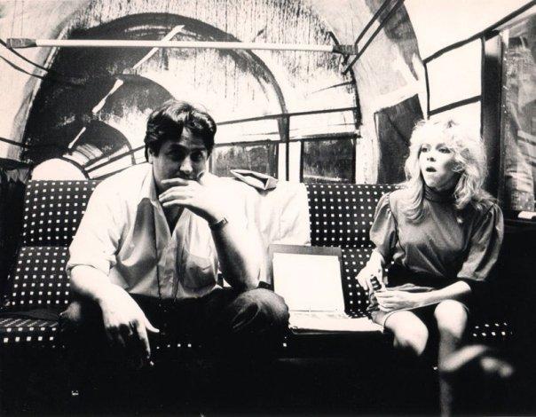 Director Dominic Orlando and Terri Nunn on the set of The Metro. picture courtesy of Dominic Orlando.