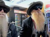 Every girl's crazy 'bout her sharp dressed can: Dusty Hill and Billy Gibbons in the new Jeremiah Weed commercial.