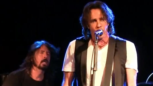 Dave Grohl and Rick Springfield onstage at Park City, Utah