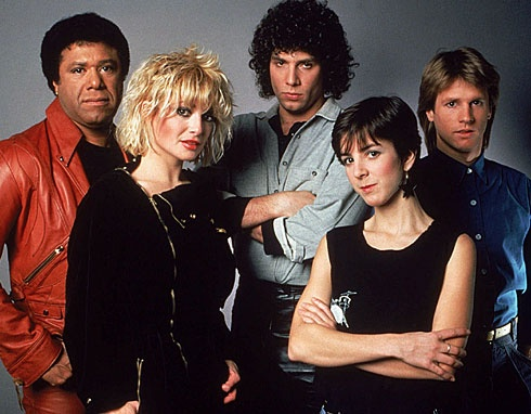 MTV's original VJs : J.J. Jackson, Nina Blackwood, Mark Goodman, Martha Quinn and Alan Hunter