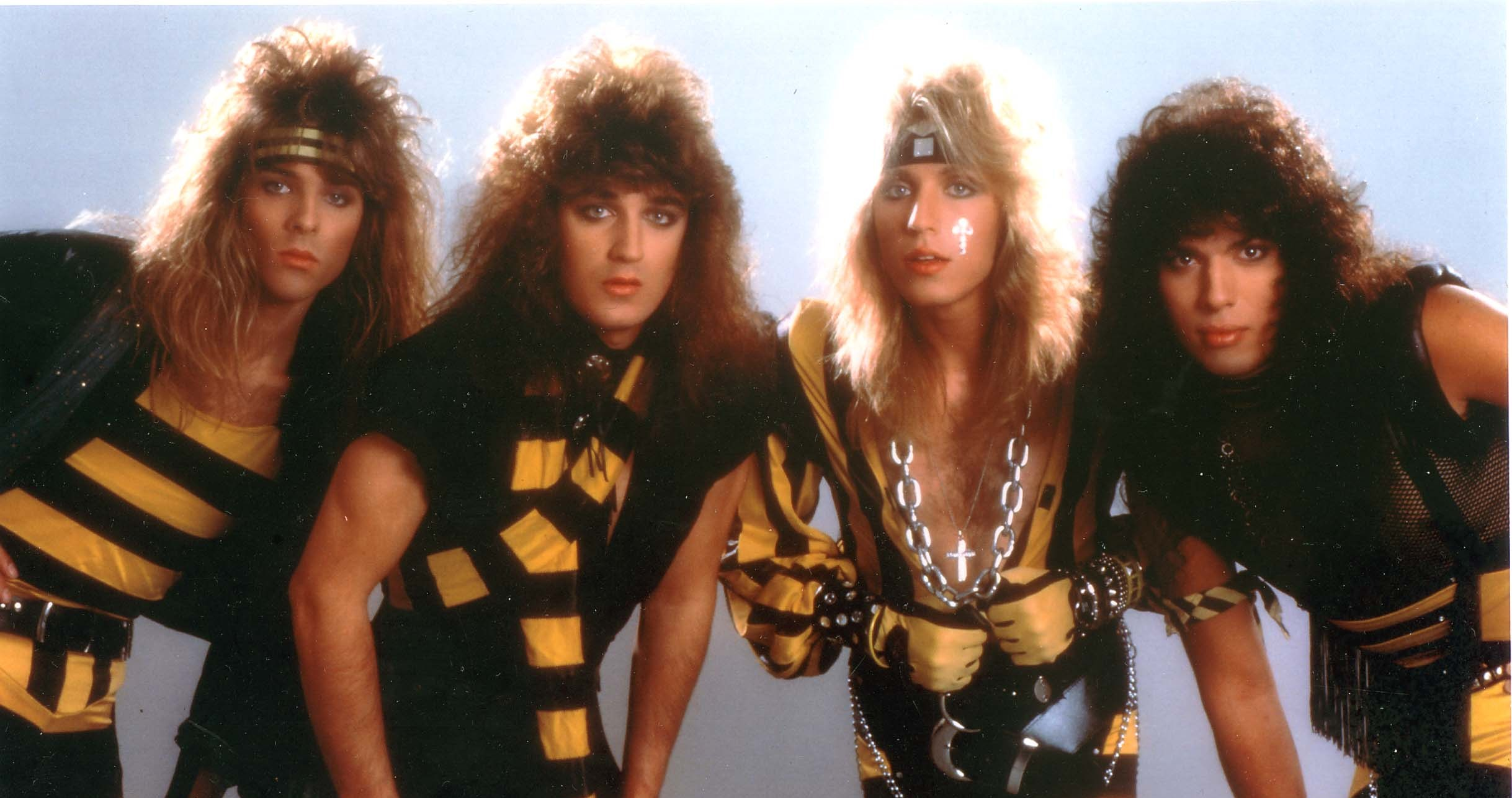 the yellow black attack is back stryper 39 s michael sweet talks about their music videos. Black Bedroom Furniture Sets. Home Design Ideas