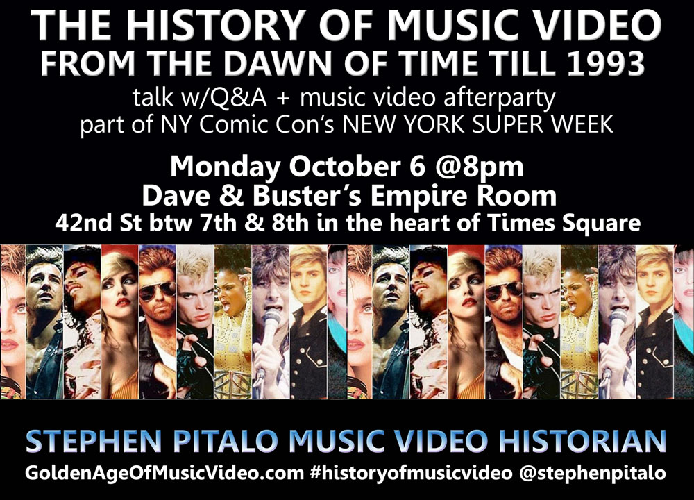 THE HISTORY OF MUSIC VIDEO, PART ONE Deluxe Edition @ New York Super Week