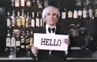 "The one and only Andy Warhol, director of  The Cars' ""Hello Again"" video"