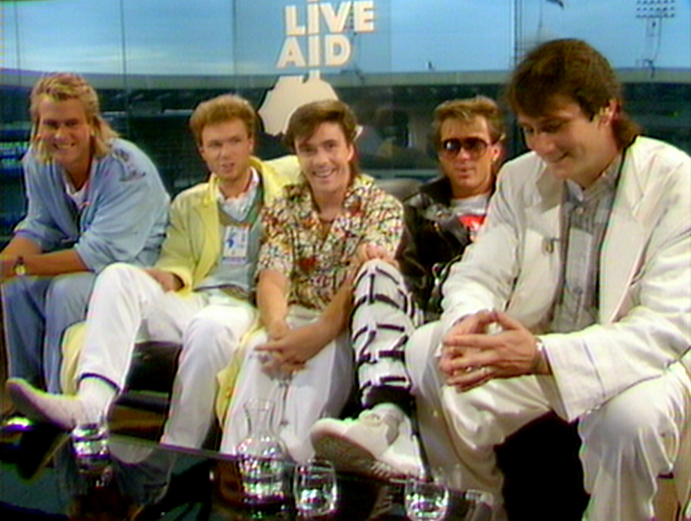 The band 30 years ago at Live Aid