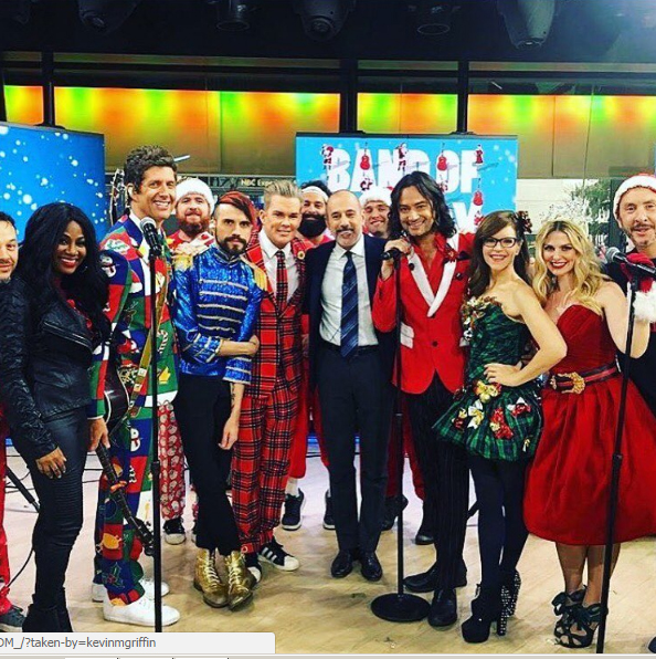 Zelma Davis (far left) on the Today Show with Band of Merrymakers